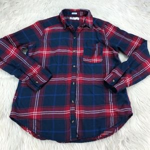 Hollister Boyfriend Fit Plaid Flannel Shirt